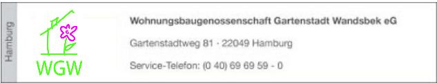 Zur Wohnungsbaugenossenschaft Gartenstadt Wandsbek eG