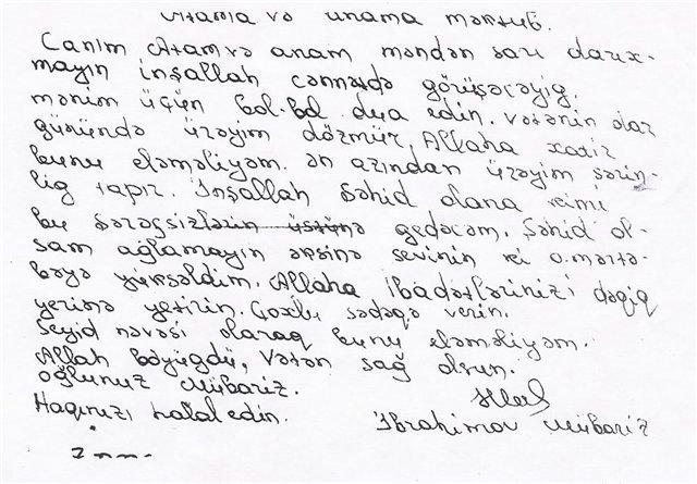 mübariz ibrahimov mektubu türkçe ile ilgili görsel sonucu
