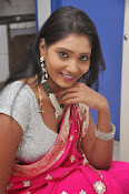 Actress Nisha Latest Photos in Pink saree-thumbnail-2