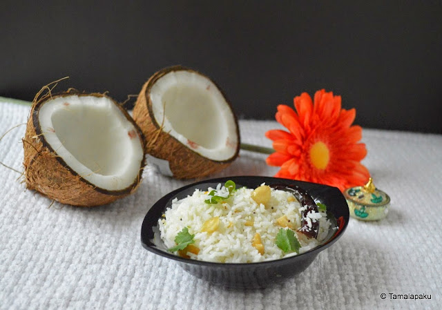 Coconut Rice For Prasadam