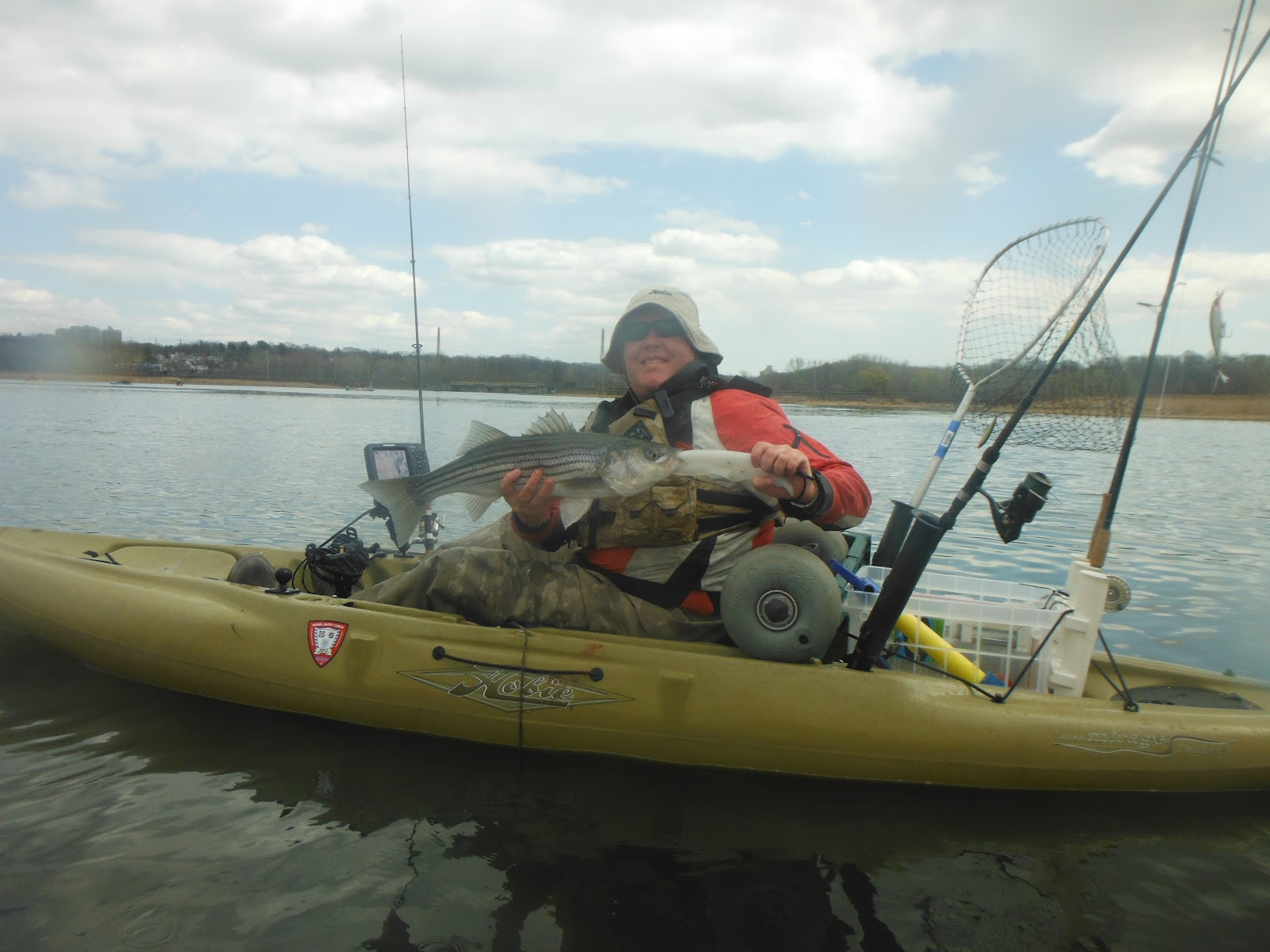 long island kayak angler north shore stripers improve