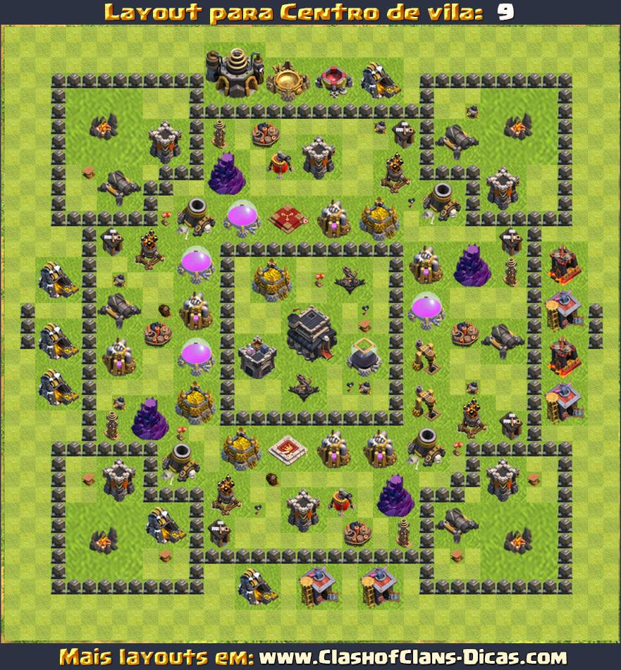 Layouts de CV9 - Clash of Clans - Clash of Clans Dicas