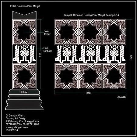 Desain Tiang dan Motif Pilar Masjid