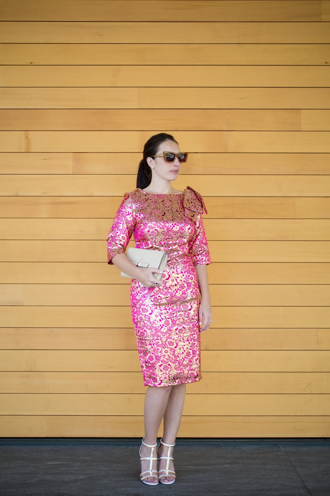 Pink and Gold Brocade Shabby Apple Dress