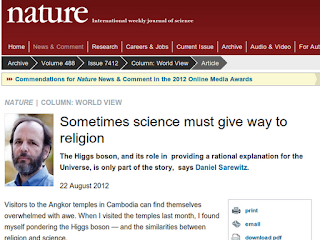 Sarewitz article in Nature