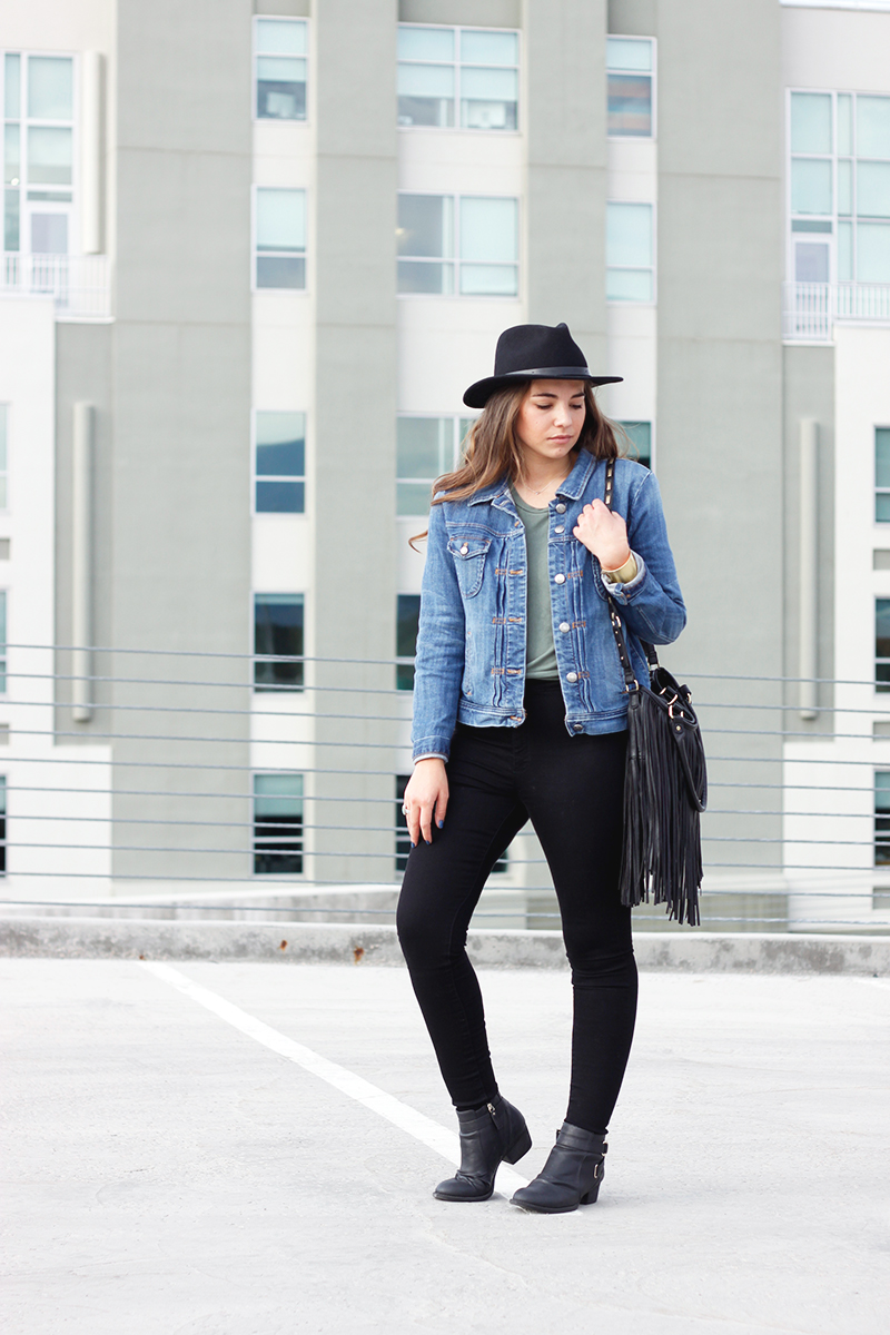 jean jacket outfit from jcrew