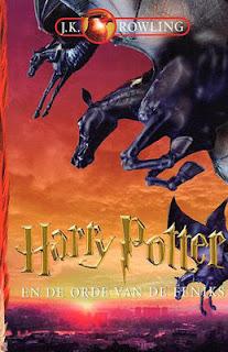 Harry Potter en de orde van de Feniks, J.K. Rowling cover