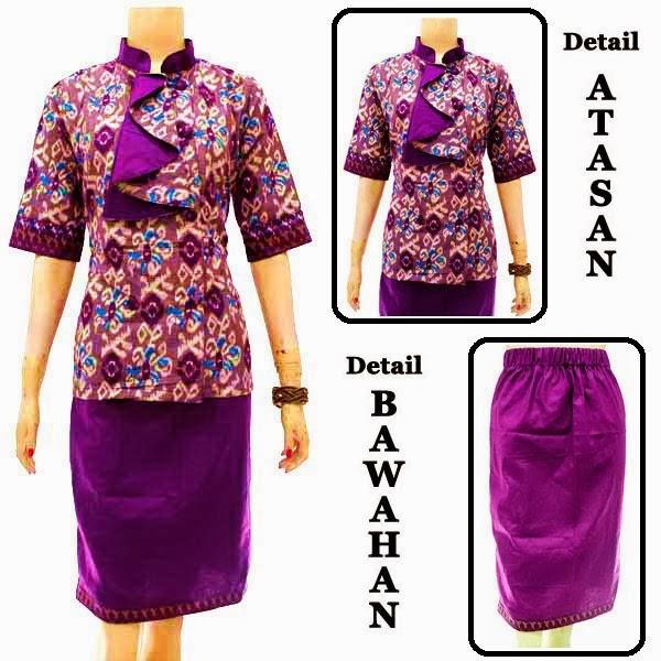 dress batik kerah shanghai