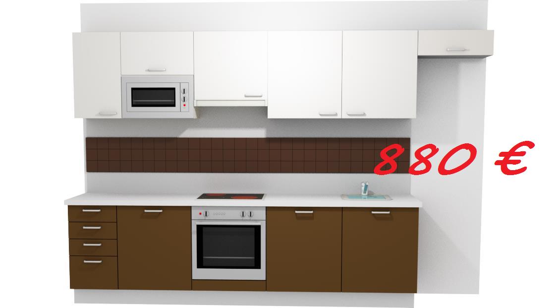 for Cocinas lineales de cuatro metros