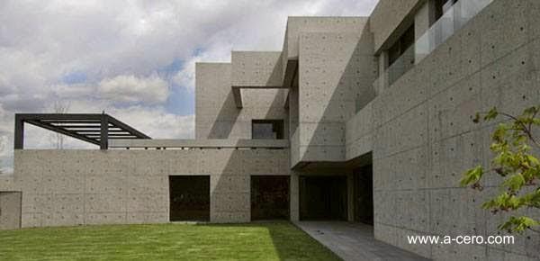 Arquitectura de casas casa residencial de concreto for Casas de cemento