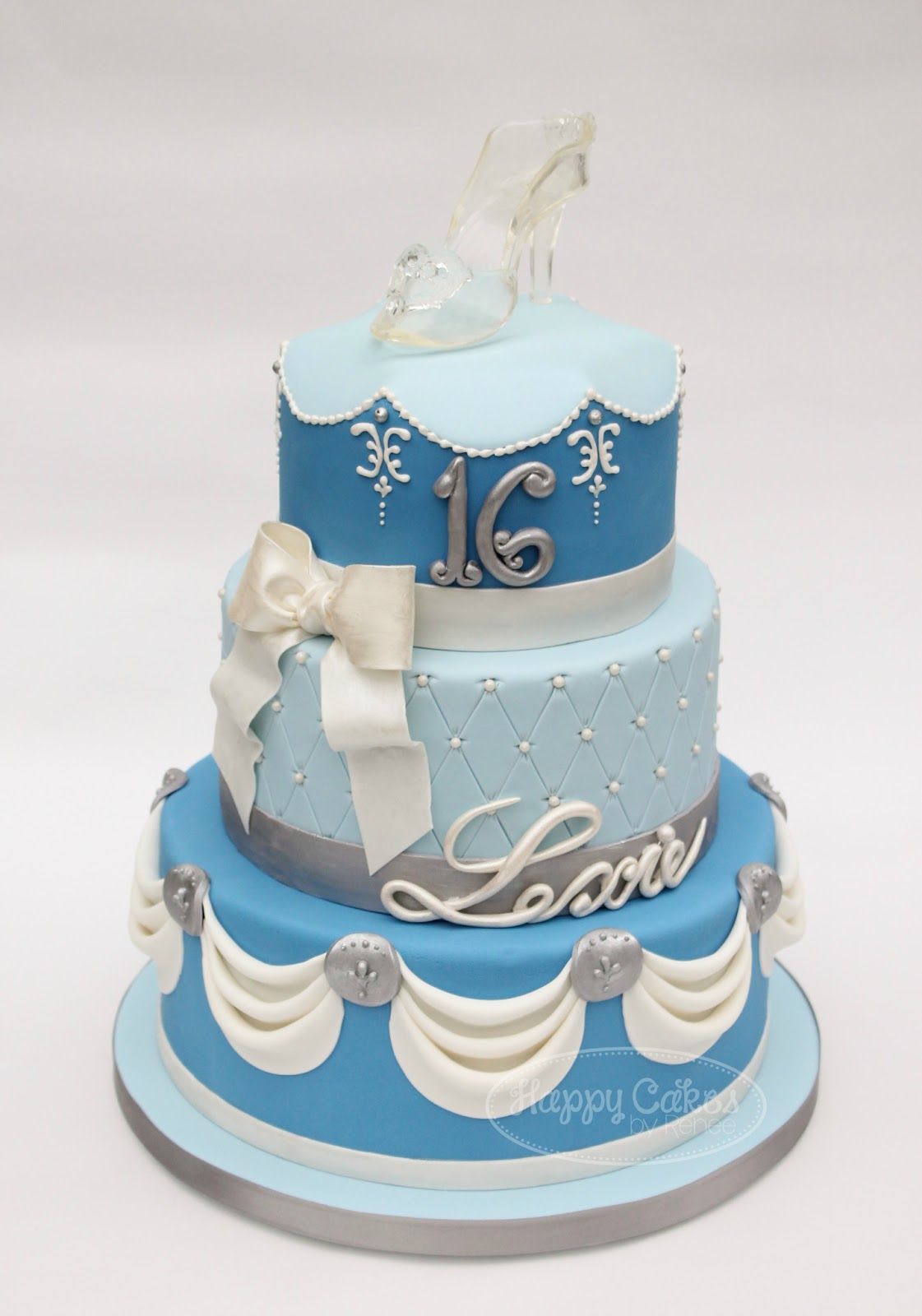 Cinderalla Shoe Happy Birthday Cake Images