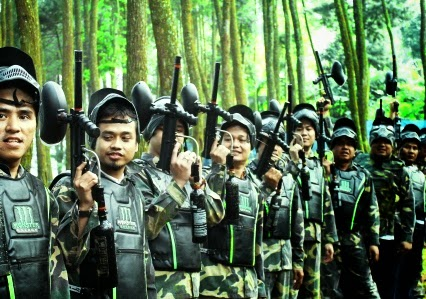 outbound training, war game, Wargame paintball, competition game, game komunikasi, brain wash