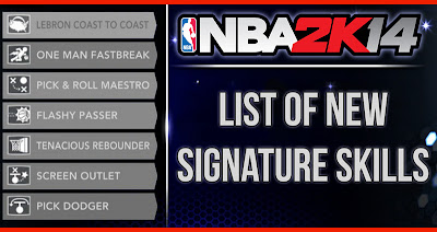 NBA 2K14 New Signature Skills