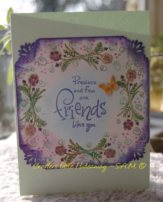 crafters little hideaway card making handmade stamped friendship