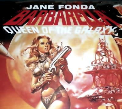 Barbarella, Jane Fonda, Roger Vadim, jeune femme, fusil laser, maillot une-pièce, espace, science-fiction, érotisme