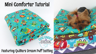 Puff Mini Comforter Tutorial by Dog Under My Desk