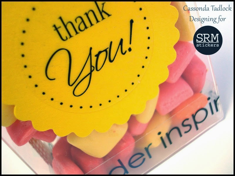 SRM Stickers Blog - Sweet Teacher Thank You by Cassonda - #thankyou #stickers #teacher #clearbox #gift #punchedpieces #twine
