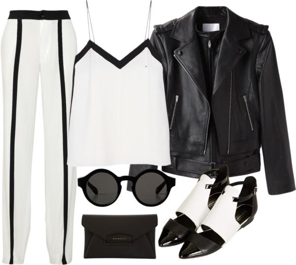 leather jacket flatlay