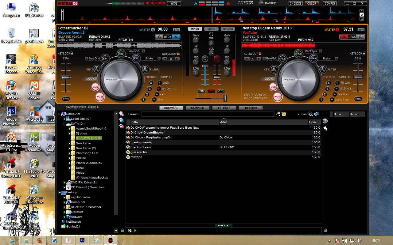 Free Download SKIN VDJ Pioneer DDJ-WeGO Orange