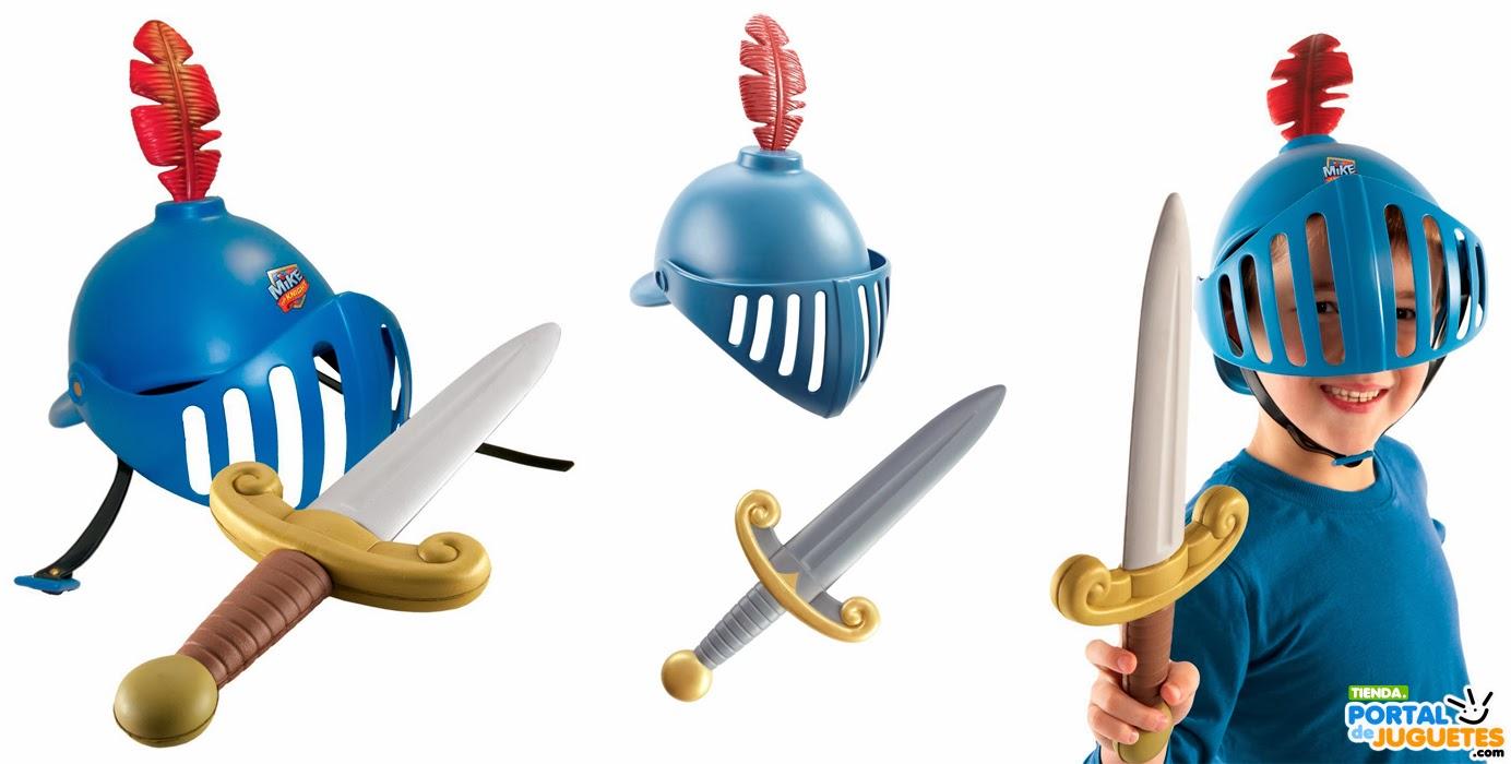 disfraz mike el caballero juego casco espada