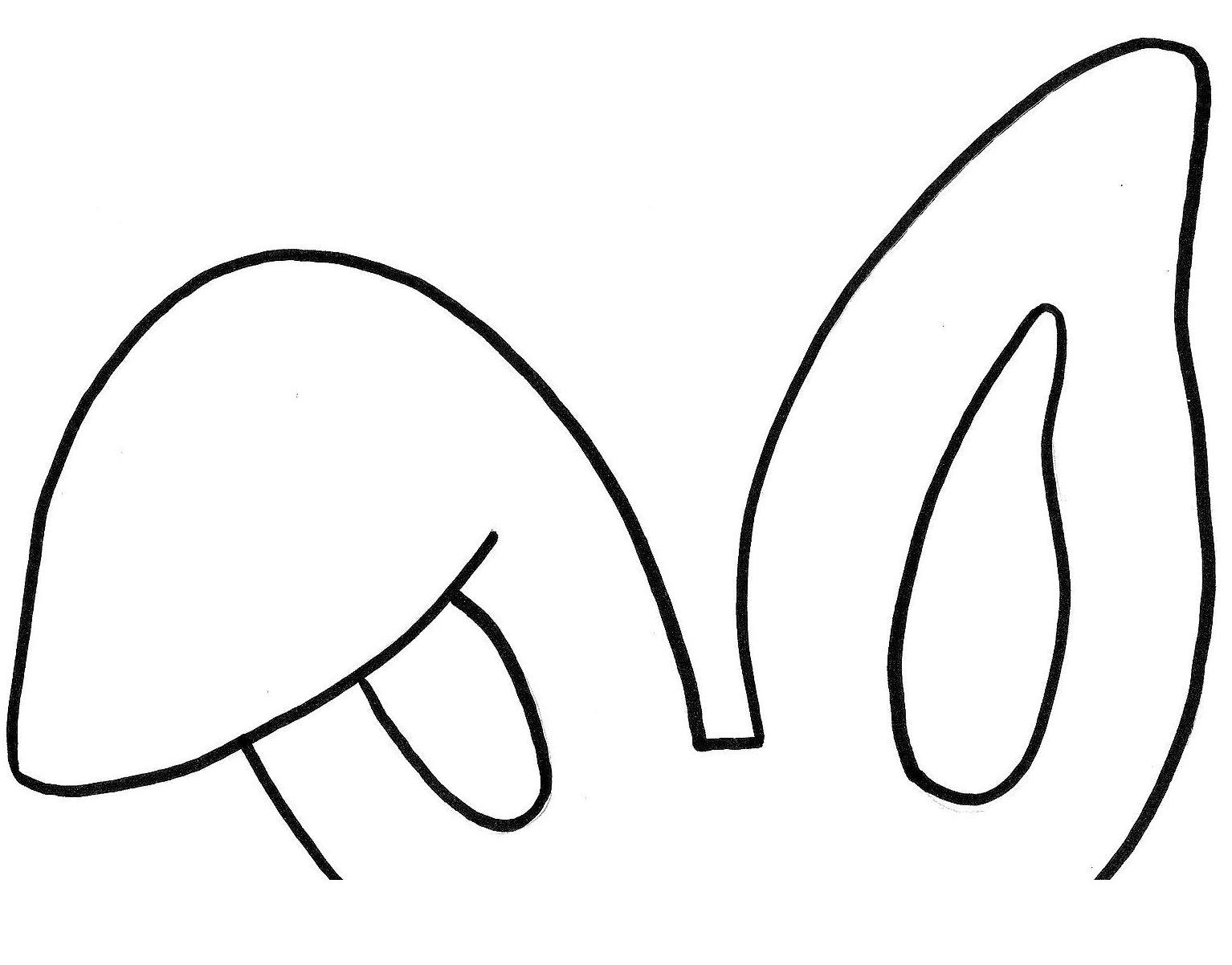 Moldes para fazer orelhas de coelho