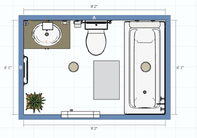 Attrayant Initial Bathroom Design Layout Done My Man.