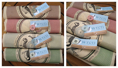 4 garden bird cotton bags.