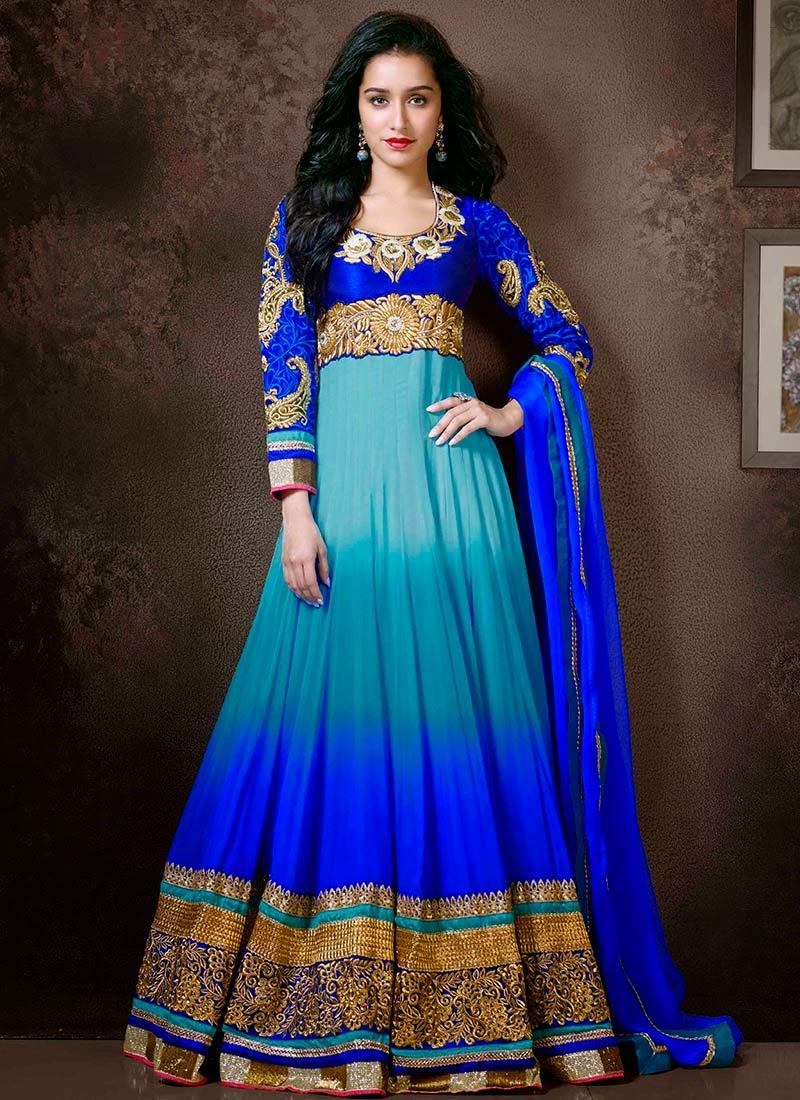 Modern Fashion: Elegant Shraddha Kapoor in Floor Length Long ...