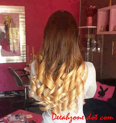 Trend Rambut Dua Warna BlondeNatural