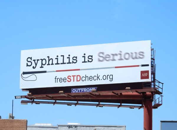 Syphilis is serious blind cane billboard