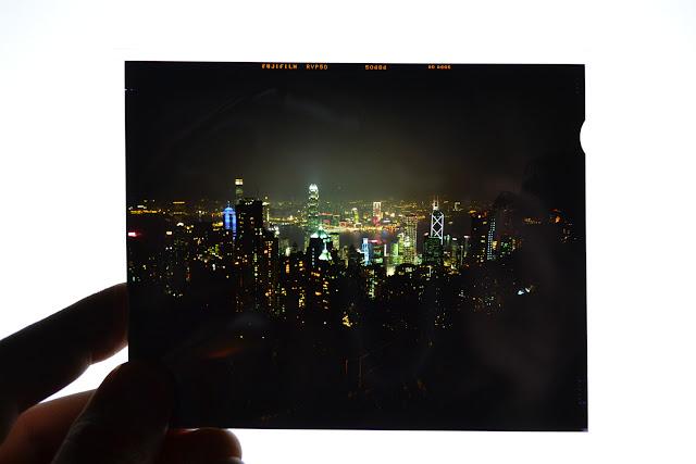 Fuji Velvia, 50 ISO, 4x5, Slide, Film, Hong Kong Harbor, Victoria's Peak,