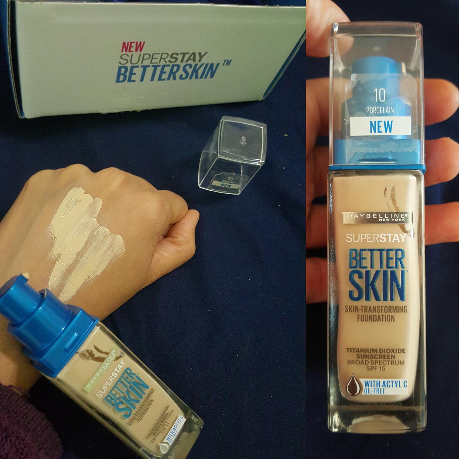 maybelline better skin foundation shades