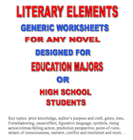 photo of Literary Packet Generic Worksheets High School or College