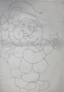 joaninha fantasiada de uva