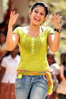 Nayanthara in yellow shirt