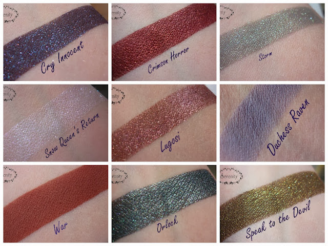 Notoriously Morbid Swatches