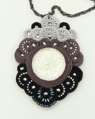 naszyjnik wisior sutasz soutache pendant necklace