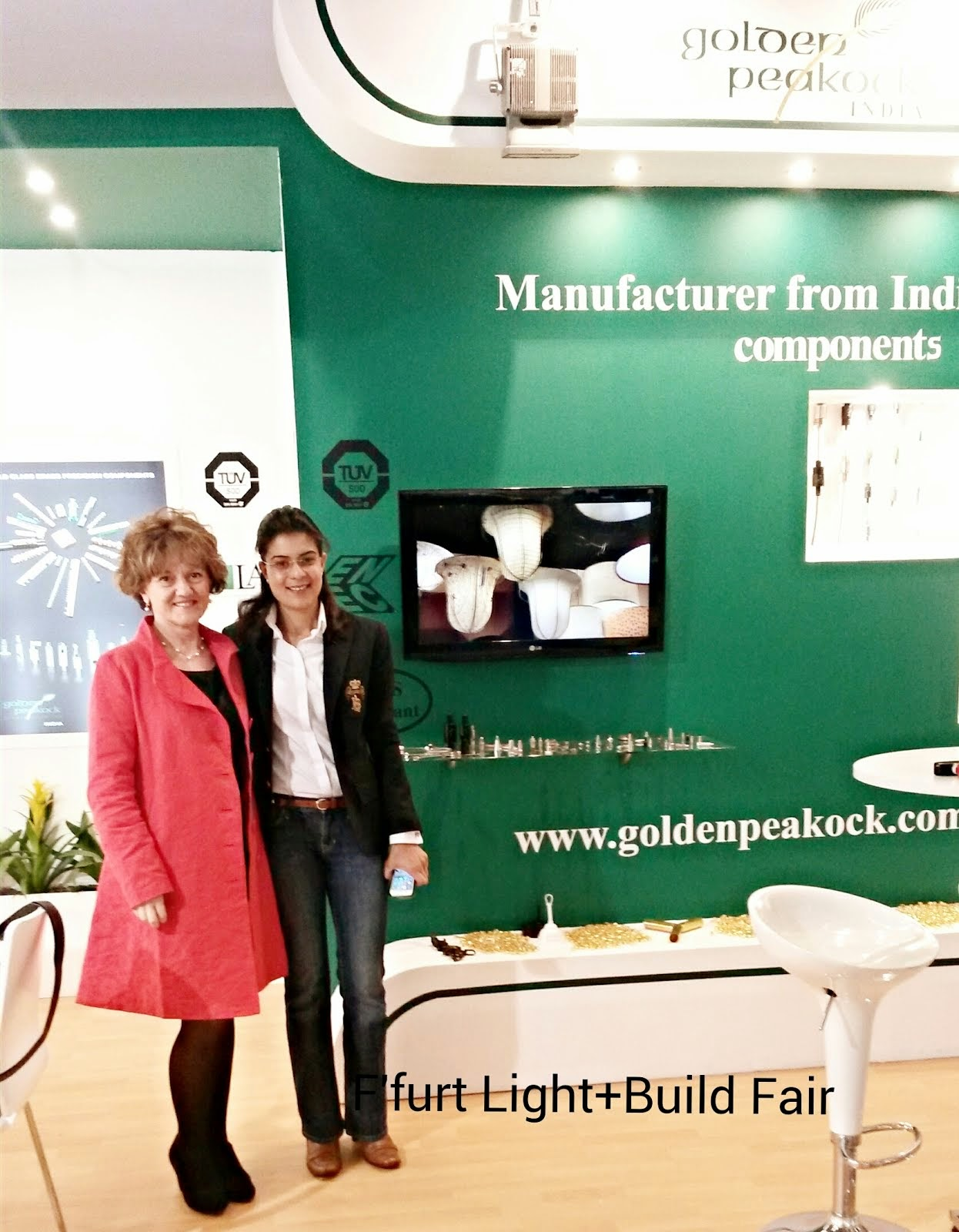 Golden Peakock exhibiting at LIGHT&BUILDING FRANKFURT 2014