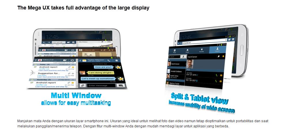 Harga Samsung Galaxy Mega GT I9152 2014