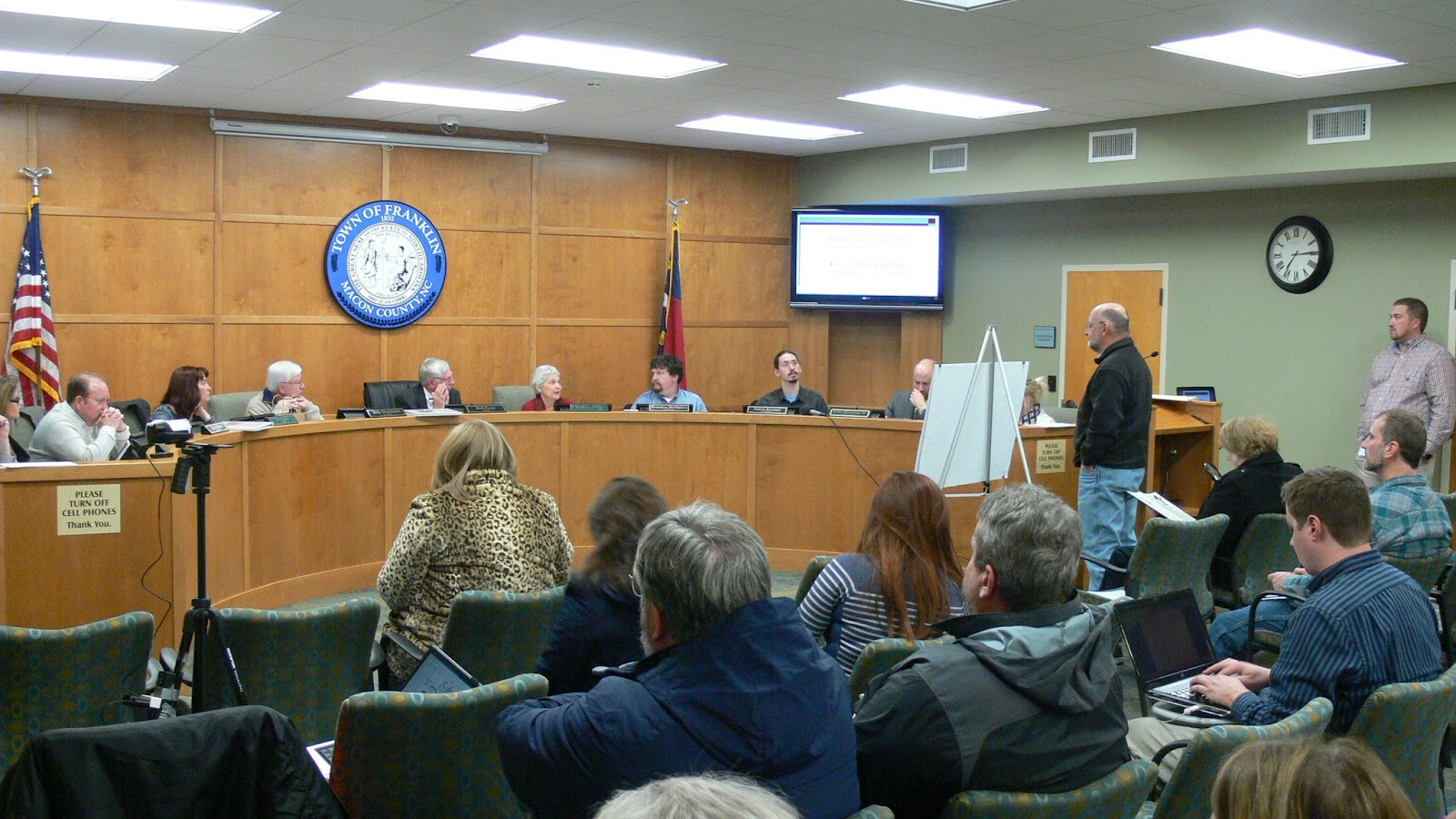 The January 2016 regular meeting of  the Franklin Town Board of Aldermen