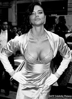Adriana Lima - B&W Victoria's Secrets $2 million bra show off - picture 1