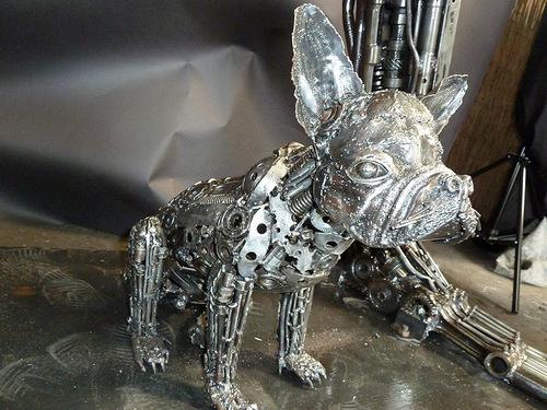 6a-Small-Animal-Sculpture-Dog-French-Bulldog-Giganten-Aus-Stahl