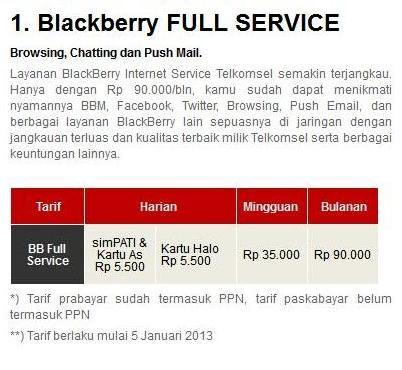 Media Sh4re: Daftar Tarif Paket BlackBerry Terbaru 2013