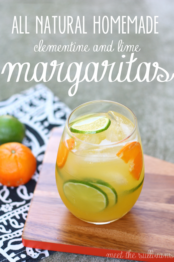 All-Natural Homemade Clemintine and Lime Margarita