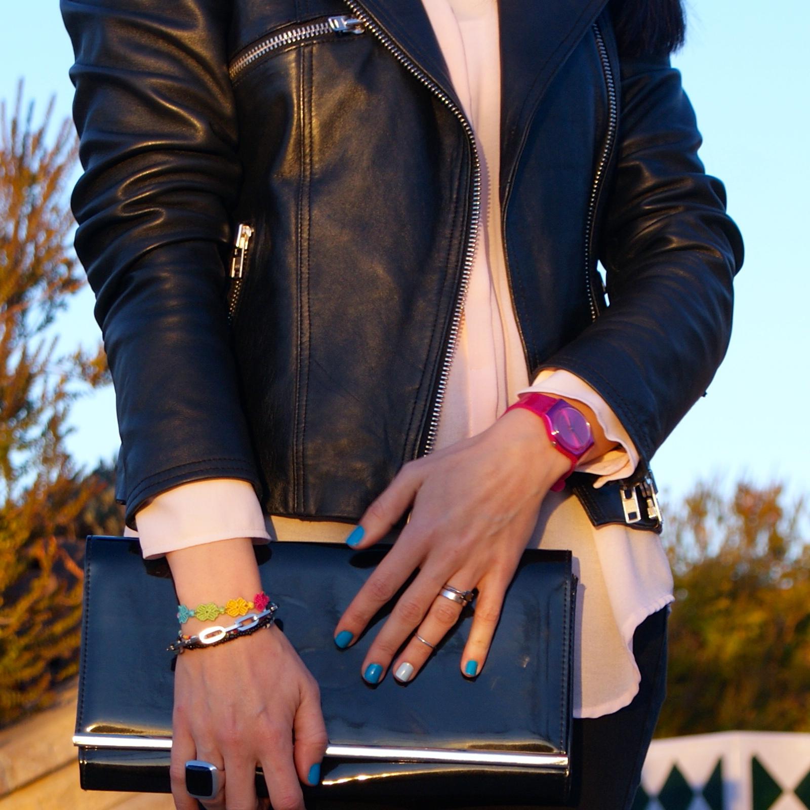 lacaprichossa, fashion blogger, reebok classic, perfecto jacket, cruciani, tous, black diamond, pink swacth