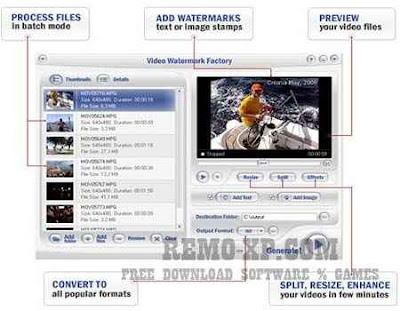 Video Watermark Factory