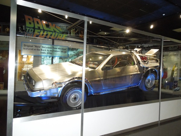 Back to the Future DeLorean Time Machine hero car
