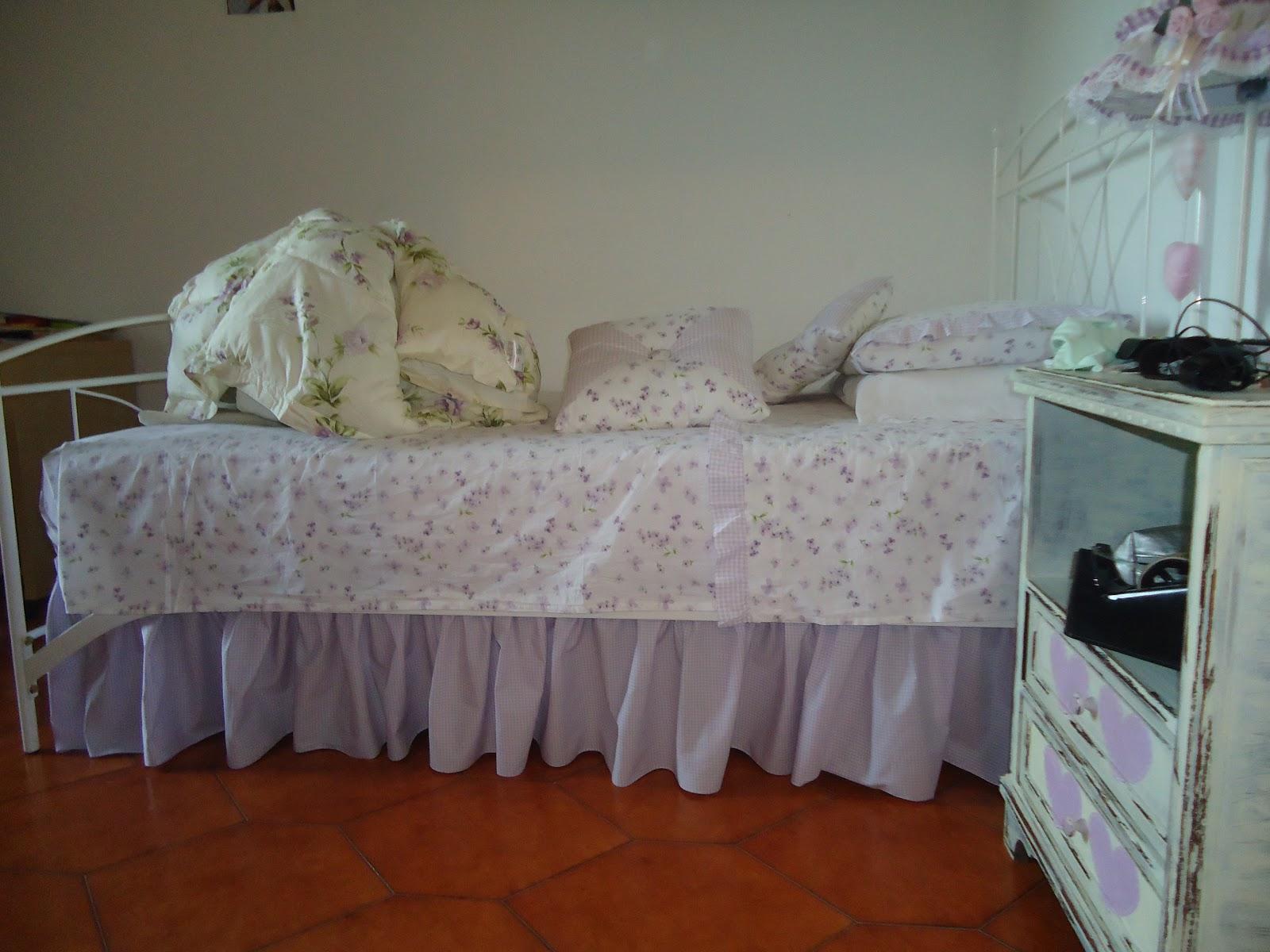 Ladolcecasadeicuori gonnellina per il letto della - Coprirete letto ...
