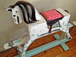 Upcycled Vintage 1960's Circus Horse