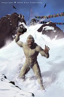 Yeti Abominable Snowman Nepal Tibet